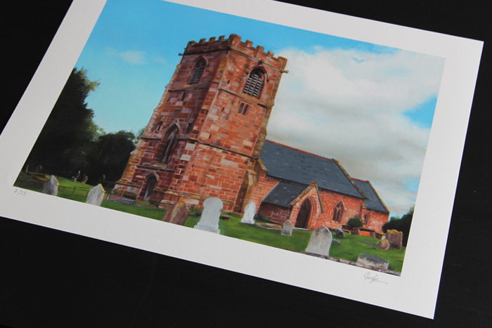 All Saints Church Handley Limited Edition Print by Gary Armer