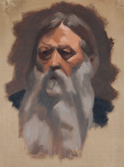 Alla Prima Portrait of Man with Beard