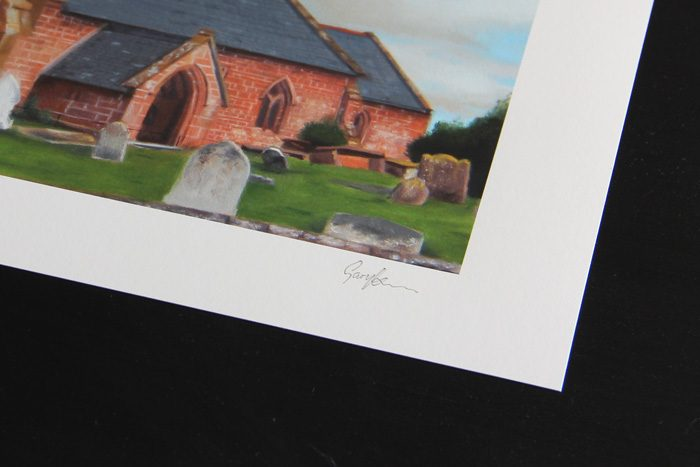 All Saints Church Handley Limited Edition Print Detail