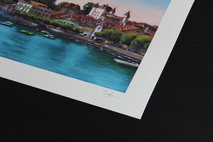 Nyon Limited Edition Print Detail