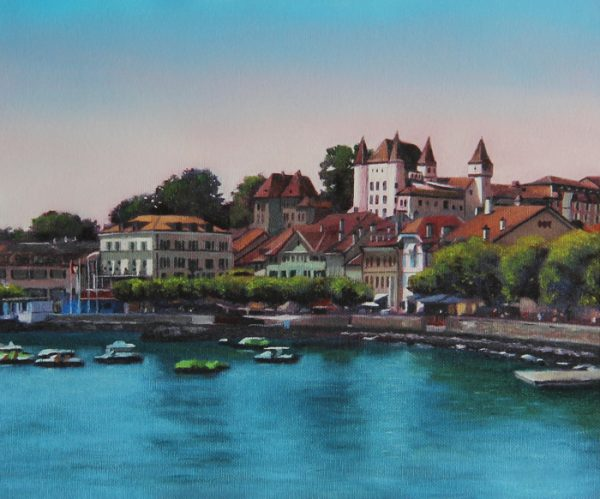 Nyon at Midday Painting Fine Art Print