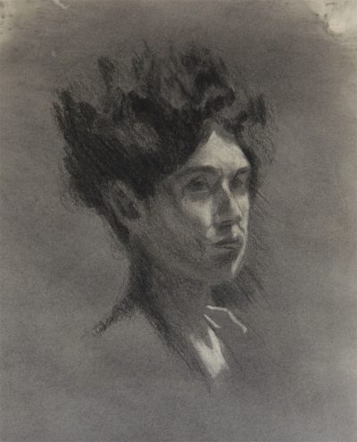 Charcoal Portrait of Lady