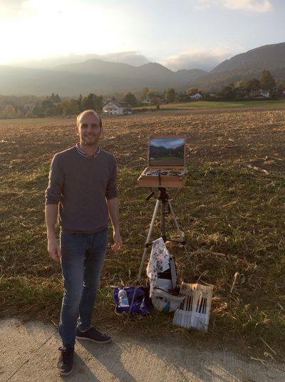 Gary Armer Artist Painting in Switzerland