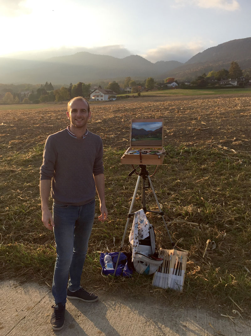 Gary Armer Artist Painting in Switzerland