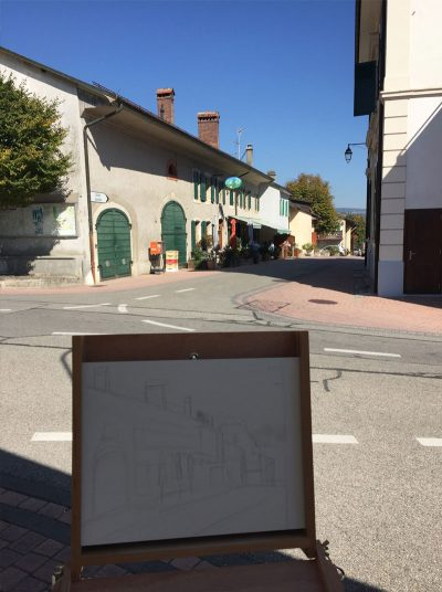 Painting the Auberge Givrins