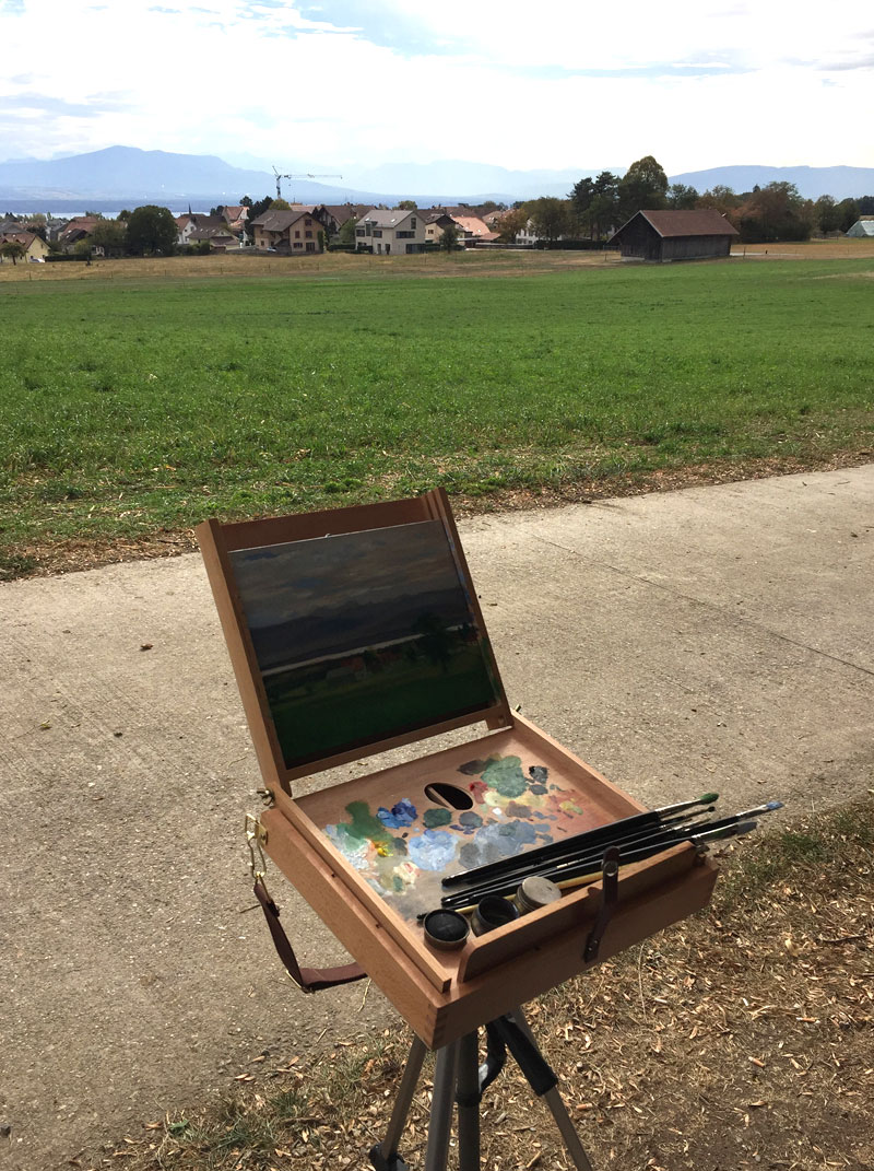 Painting near Lake Geneva