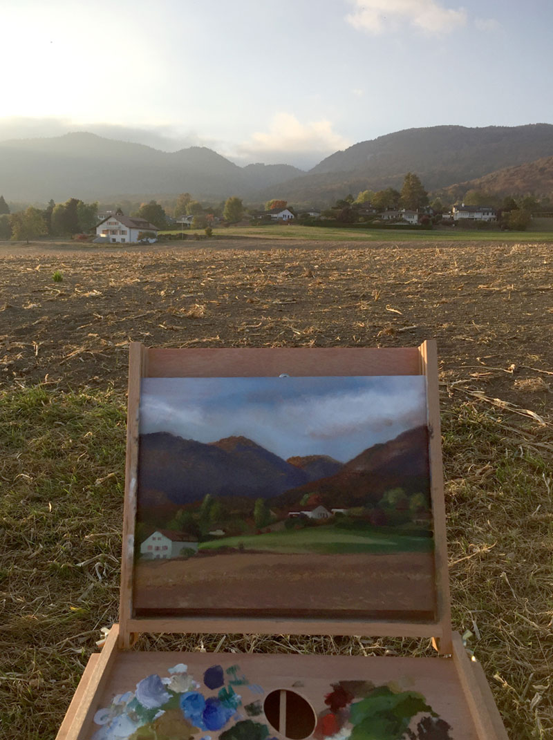 Painting the Jura Mountains