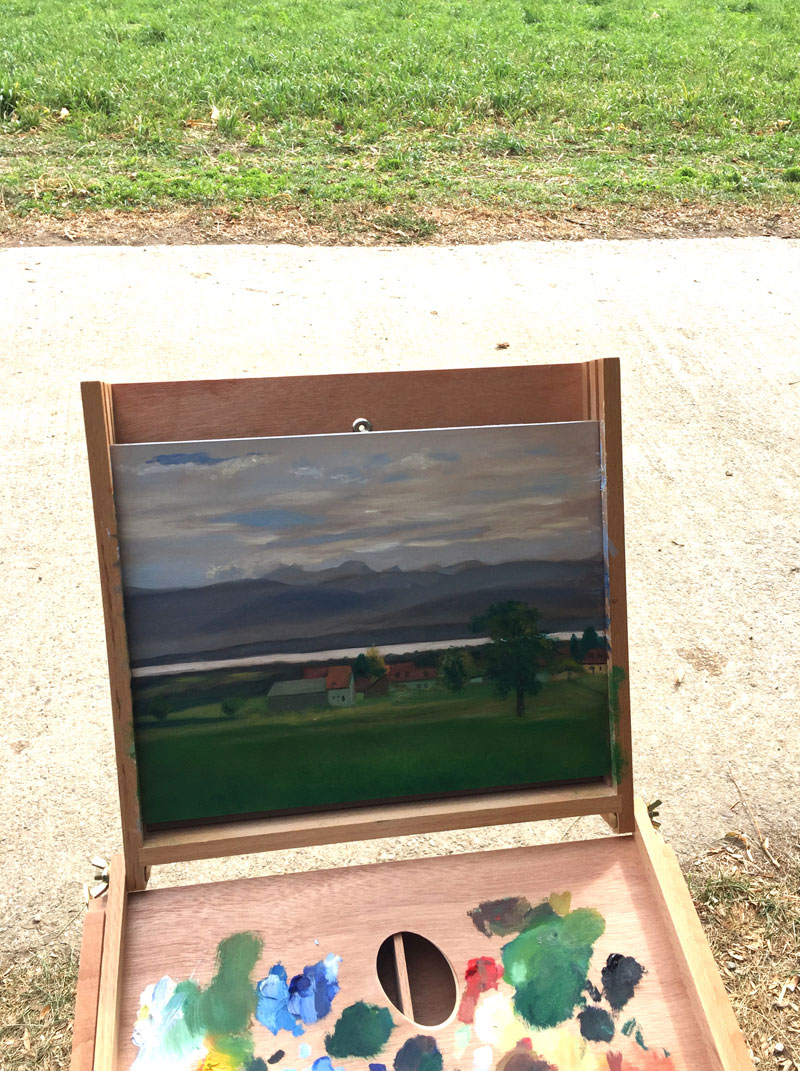 Plein Air Painting Lake Geneva