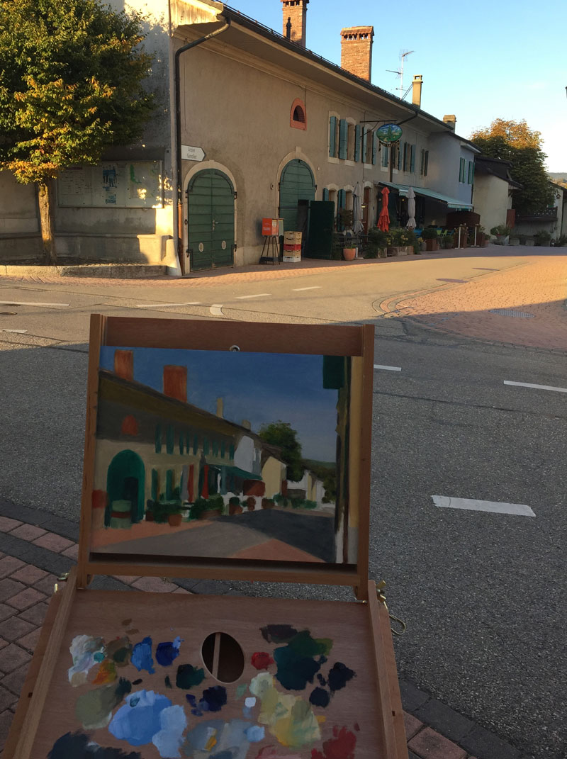 Plein Air Painting Givrins near Nyon