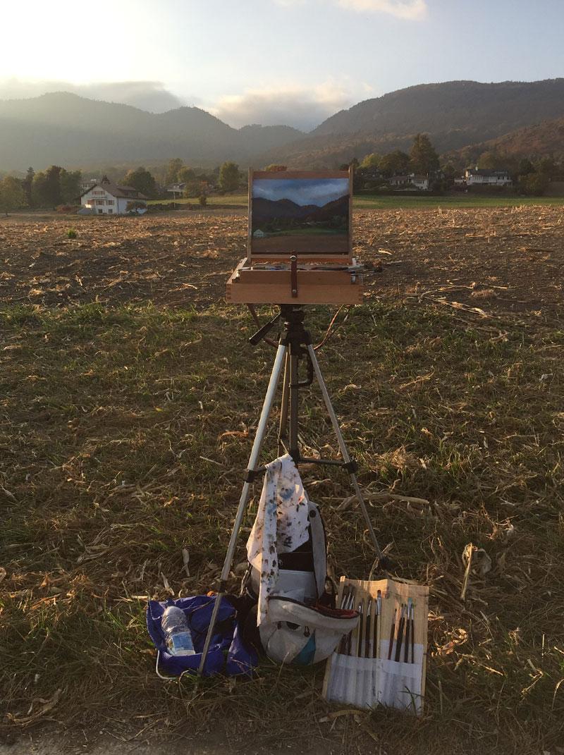 Landscape Painting near Nyon