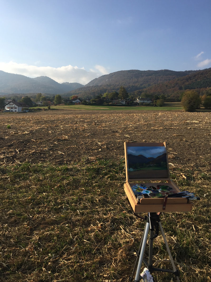 Landscape Painting of the Jura Mountains