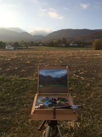 Landscape Painting from Life in Switzerland