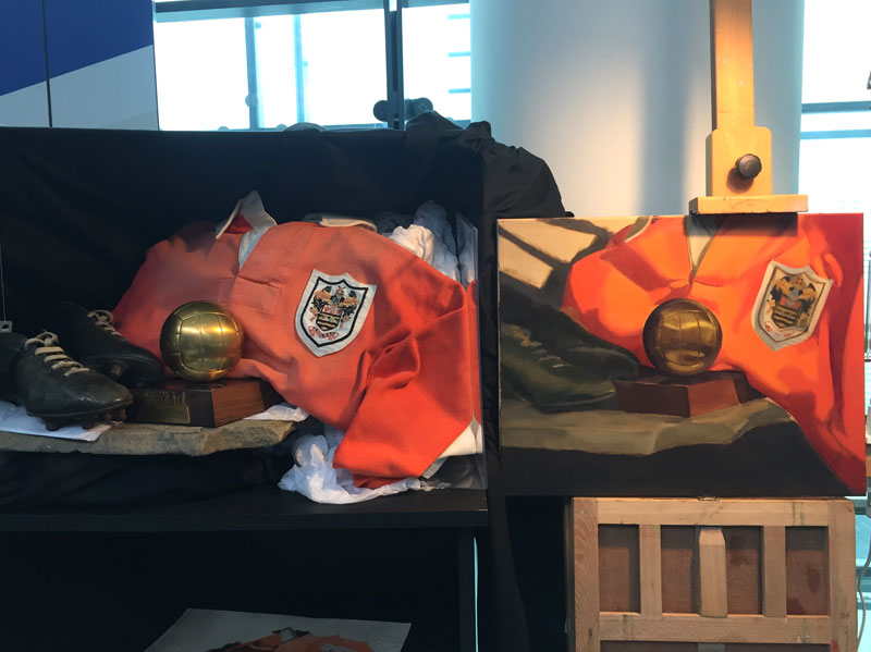 Still Life Painting featuring Blackpool FC Badge