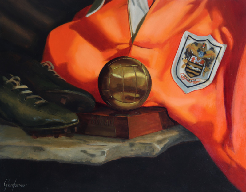 Stanley Matthews Still Life Painting by Gary Armer