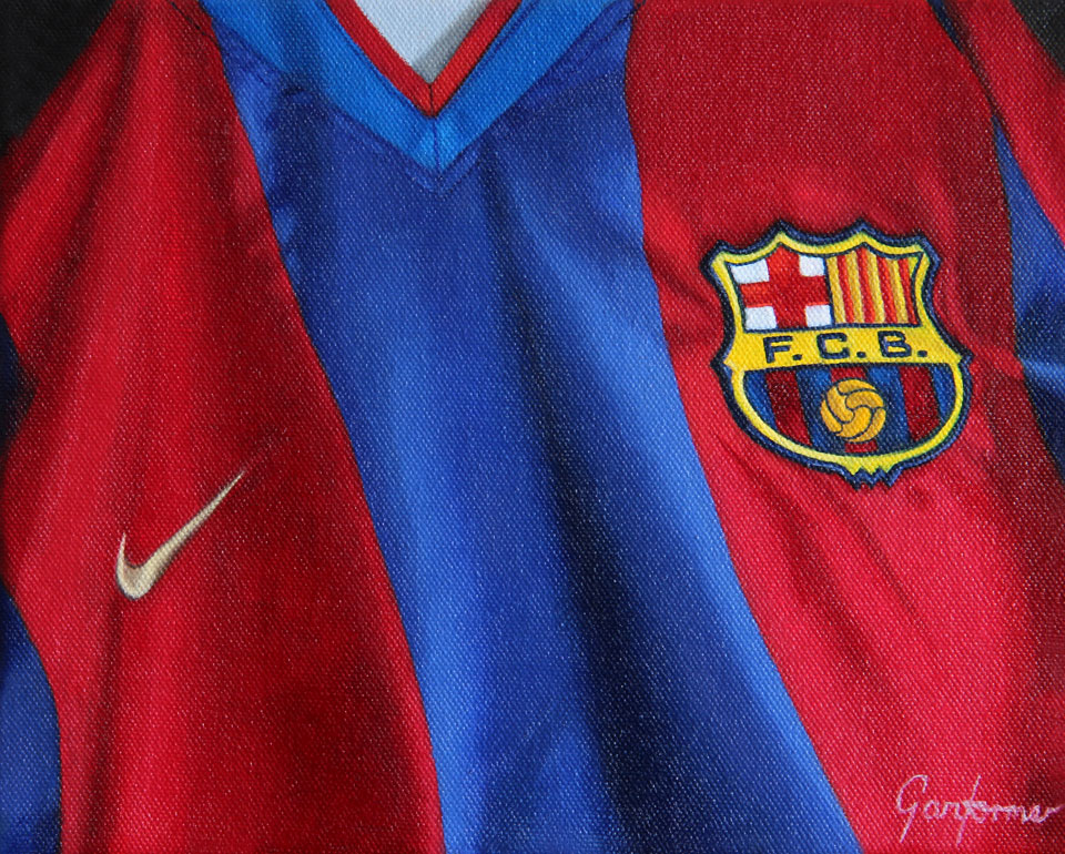 Painting of Barcelona Shirt