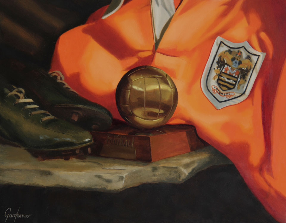 Sir Stanley Matthews Still Life Oil Painting
