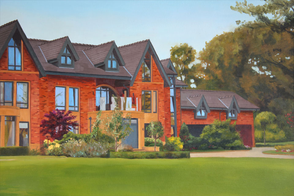 Detailed Painting of a House