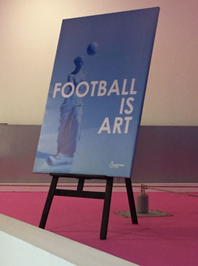 Football Is Art Canvas