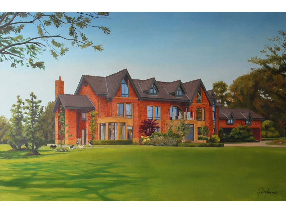 Oil Painting of Mansion