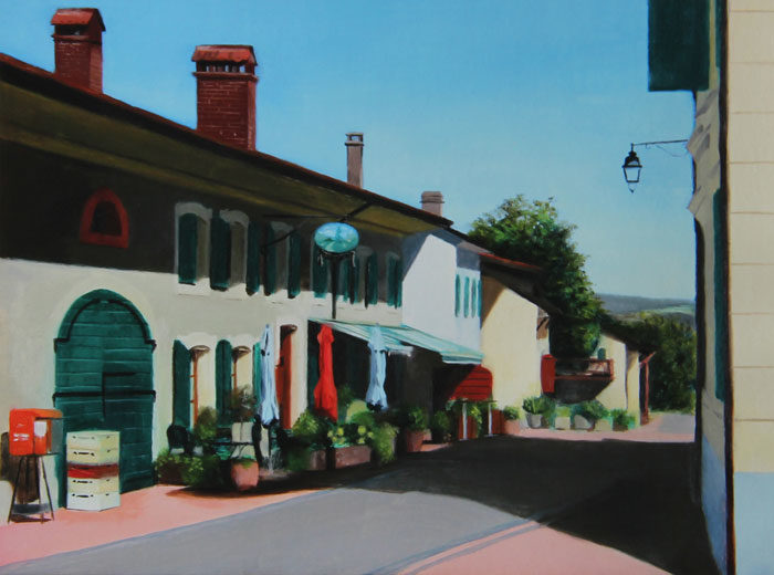 Auberge at Givrins Painting Limited Edition Print