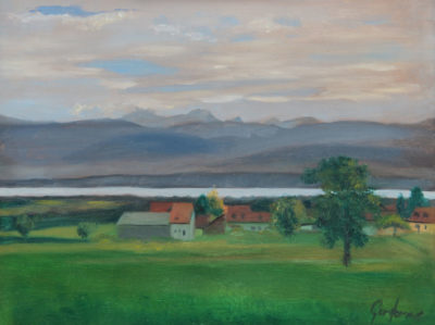 Painting of Lake Geneva from Givrins