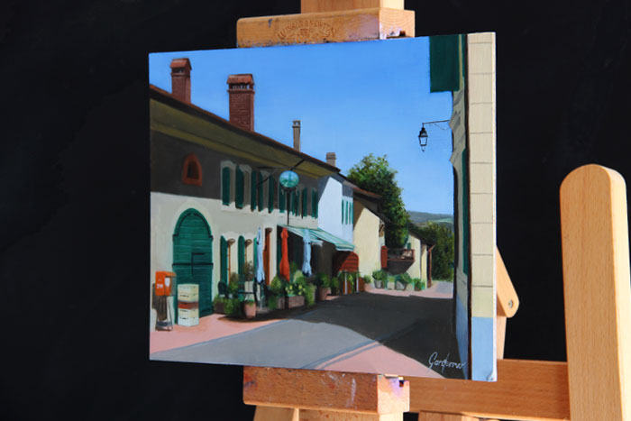 Oil Painting of Auberge