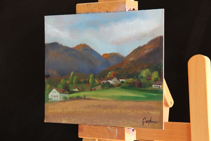 Painting of the Jura Mountains