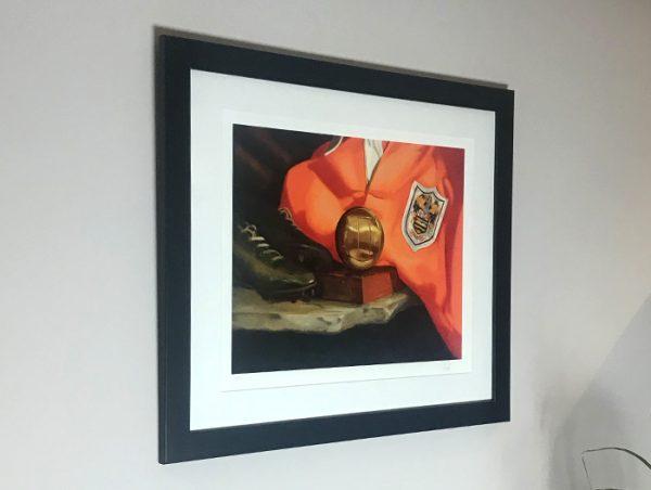 Framed Stanley Matthews Print