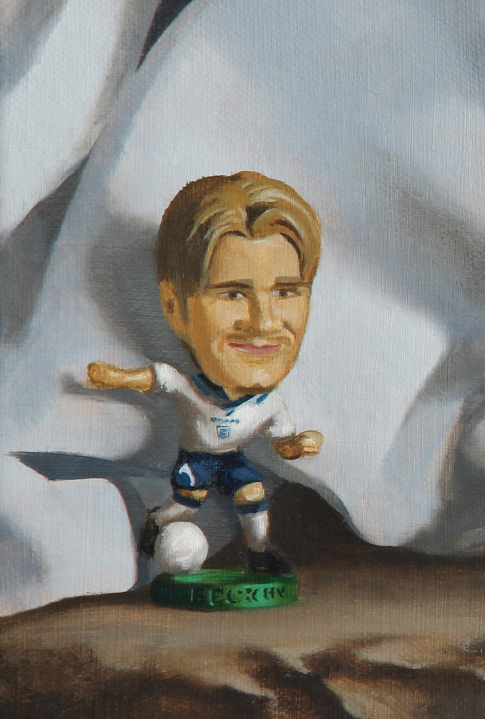 David Beckham Debut Oil Painting Detail