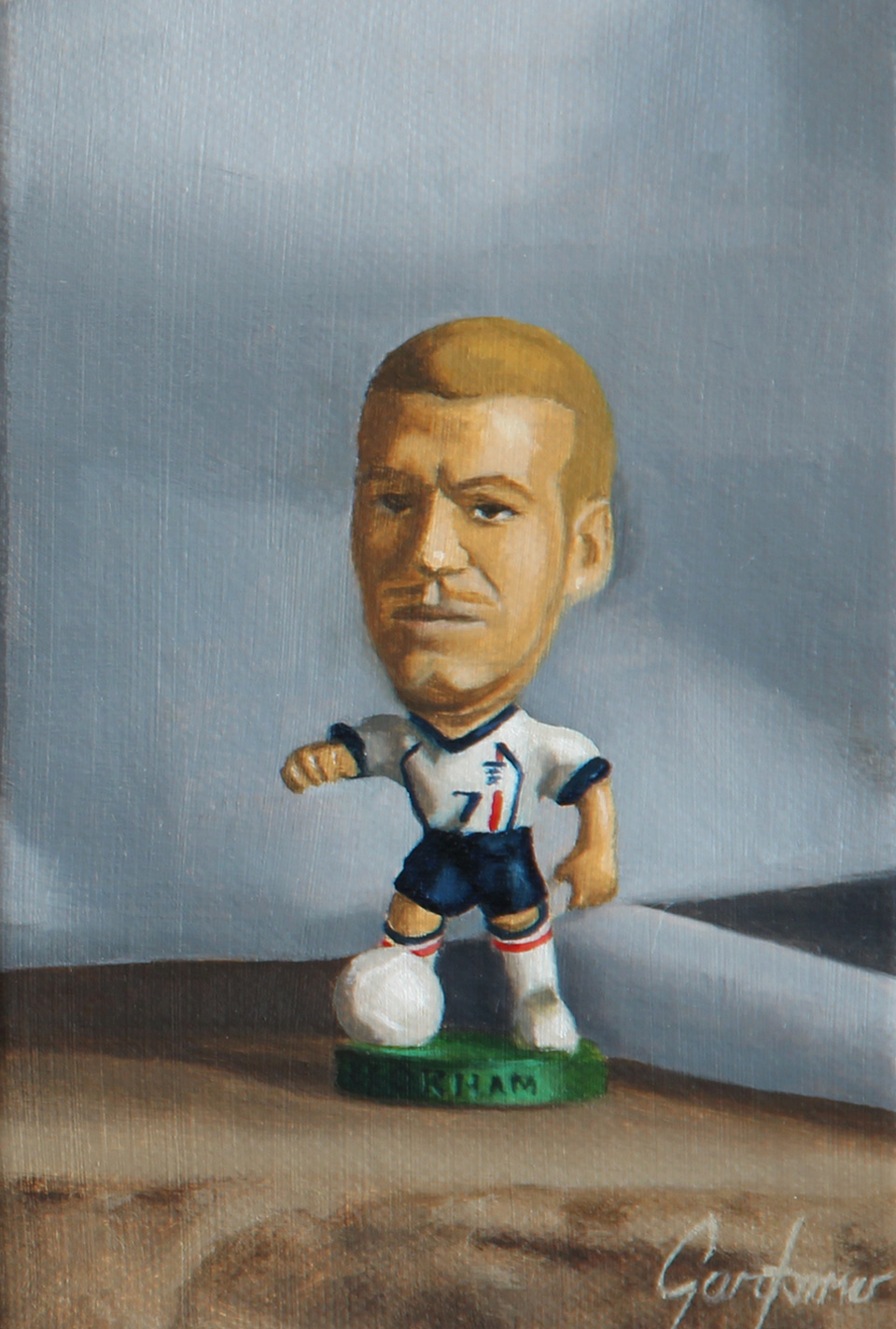 David Beckham Greece Oil Painting Detail