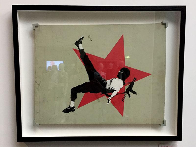 Banksy Football Terrorist