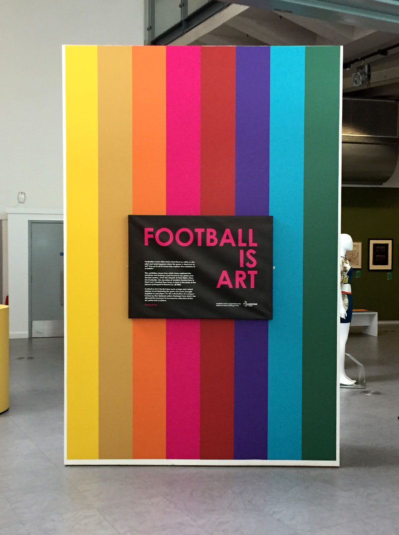 Football is Art Exhibition Signage