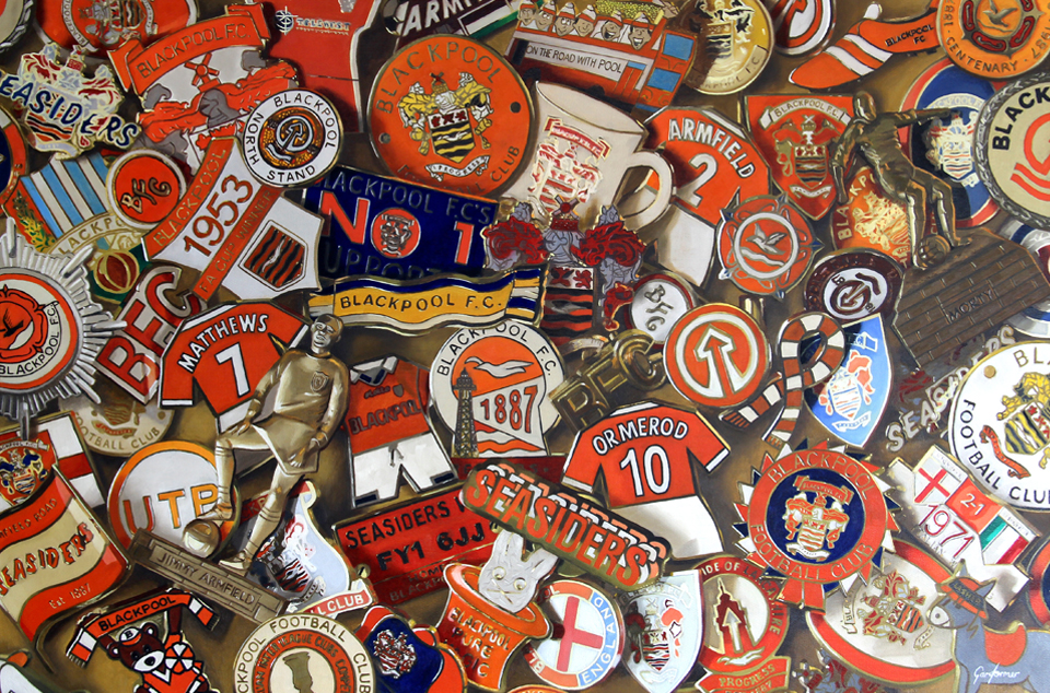 I Just Can't Get Enough Blackpool FC Pin Badges Oil Painting