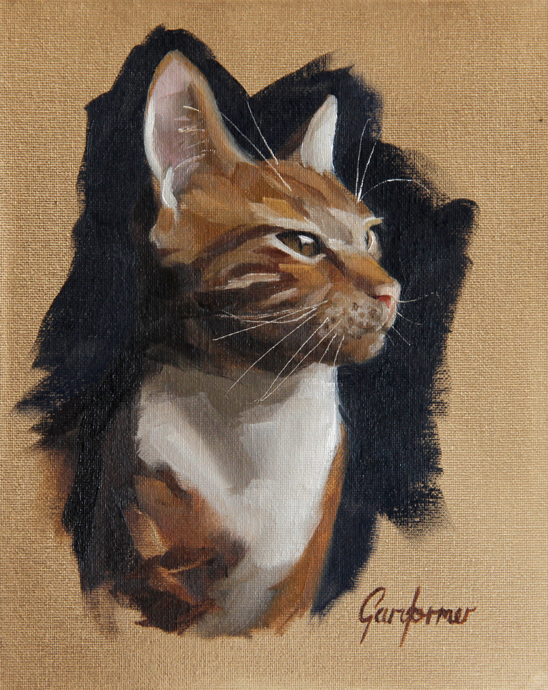 Oil Painting of Cat