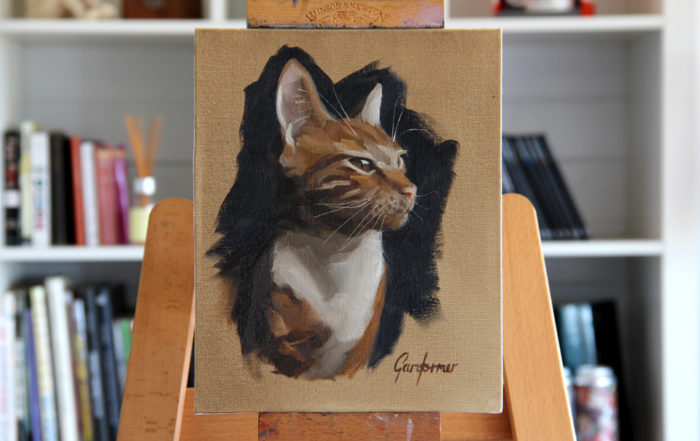 Portrait Painting of Cat
