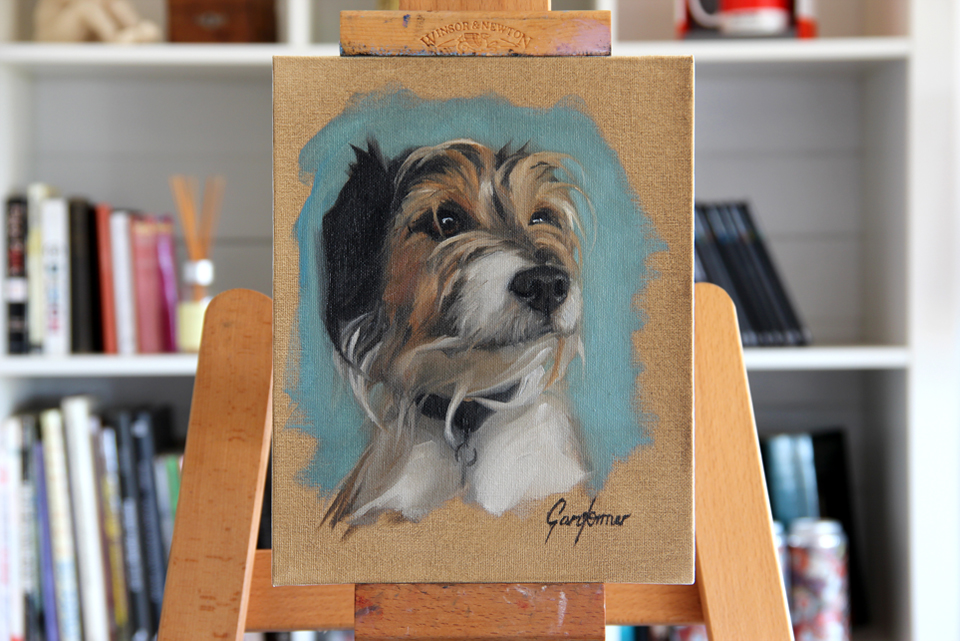 Portrait Painting of Dog