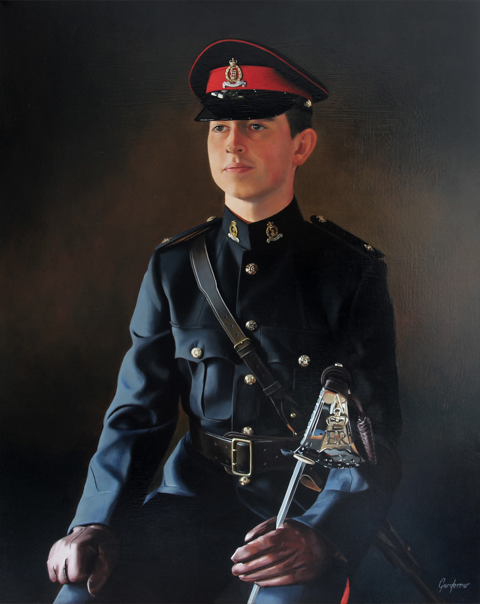Sandhurst Officer Oil Portrait Painting