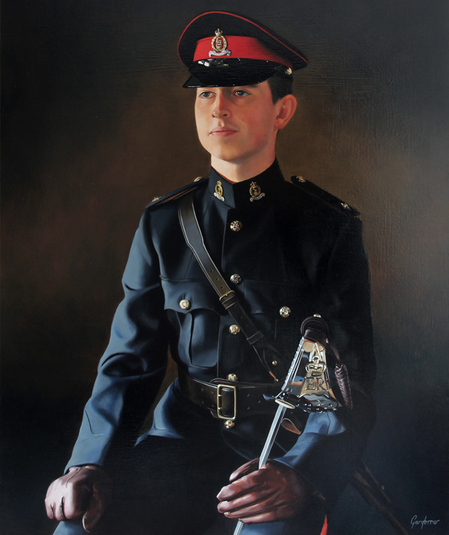 Commissioned Army Officer Portrait